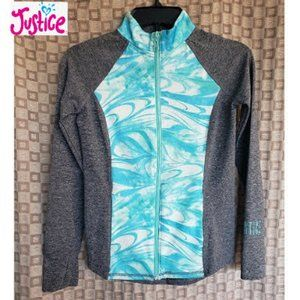 Justice Girls Active Swirl Marble Jacket NWOT